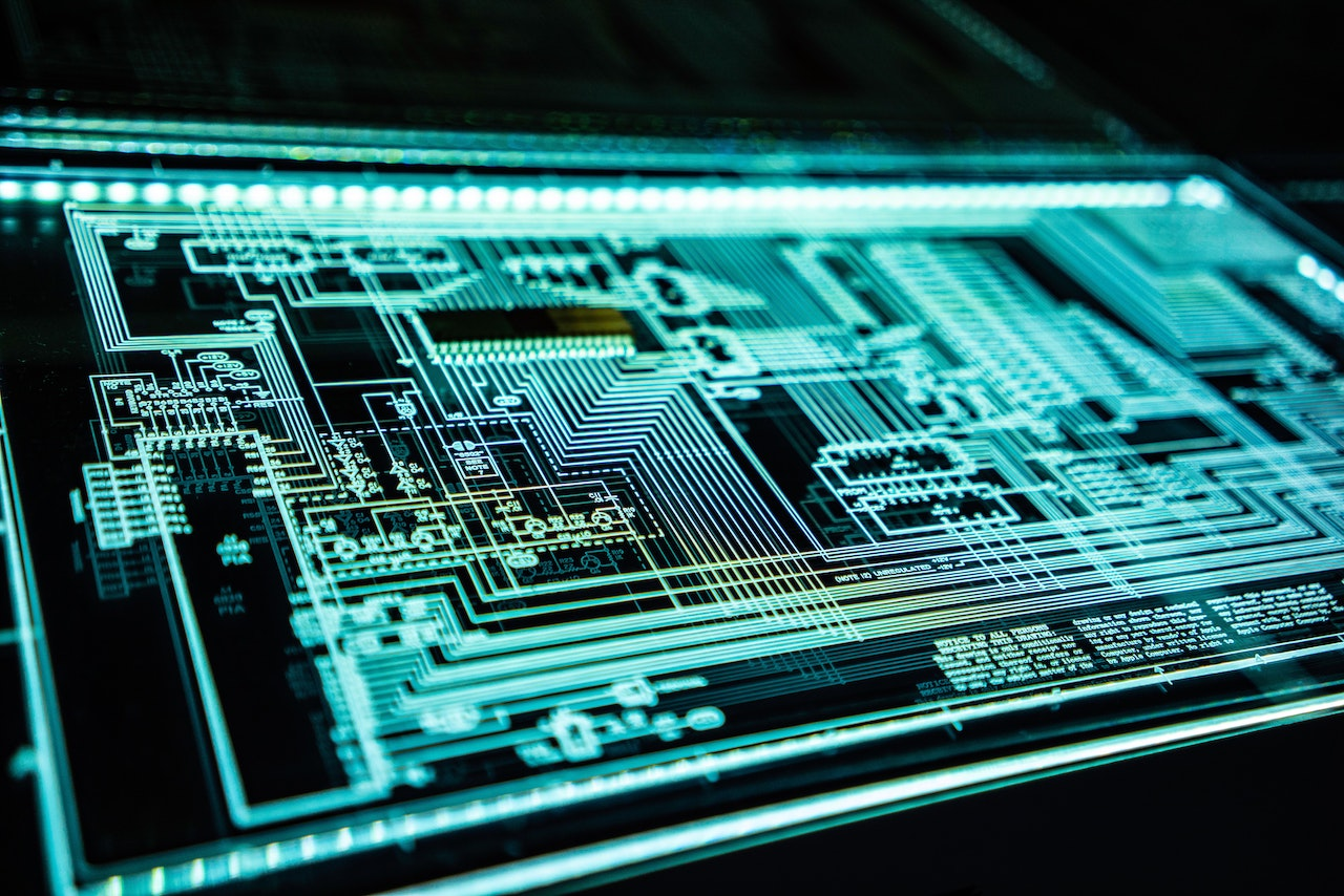Electronic interface of a chip