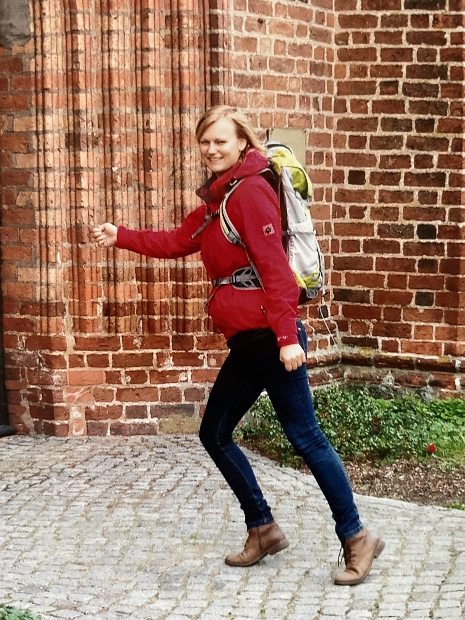 Marie beim Pilgern auf dem Weg nach Wilsnack